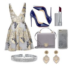 """""""Untitled #9"""" by larisanicol ❤ liked on Polyvore featuring Notte by Marchesa, Christian Louboutin, Smythson, By Terry, Agent 18, Bling Jewelry and Miguel Ases"""