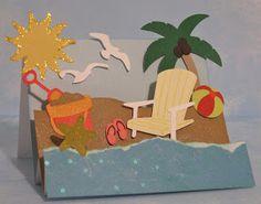 Cricut Beach Step Card.  Life's a Beach Cartridge.  *