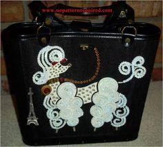 Rhinestone poodle purse!