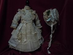 Exquisite french bebe Couturier Costume Dress w/ Petticoat Hat for from believe on Ruby Lane