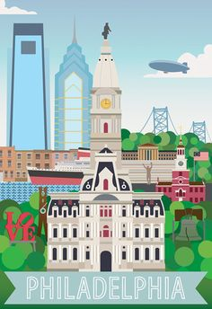 Philadelphia Print 8.5'' x 11'' by BrothersPannell on Etsy, $15.00