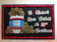 These 11 Back to School Bulletin Boards Are Crafty & Fun! Welcome Bulletin Boards, Back To School Bulletin Boards, Preschool Bulletin Boards, Bulletin Board Display, Bullentin Boards, Classroom Bulletin Boards, Classroom Themes, Classroom Design, School Classroom