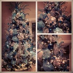 Last years christmas tree! Deco mesh christmas