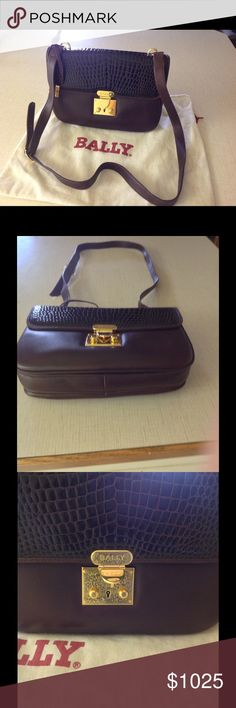 **WOW*** NEW PRICE DROP!!! Bally Italy Leather Bag GORGEOUS! Bally Italian shoulder bag.  Never used.  Make offer on wallet & purse! Bally Bags Shoulder Bags