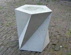 TENSEGRITY // concrete and furniture 07 by Kristina Smolinski, via Behance Concrete Stool, Concrete Cement, Concrete Furniture, Concrete Crafts, Concrete Projects, Concrete Planters, Concrete Countertops, Design Furniture, Cement Design