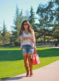 Sequins and denim shorts! #fashion #streetstyle