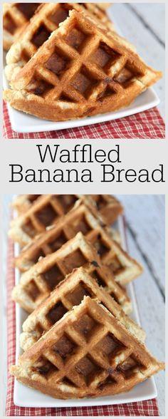 Waffled Banana Bread: Yep, it's banana bread made in the waffle iron. AND IT'S SO GOOD!!!! #recipe