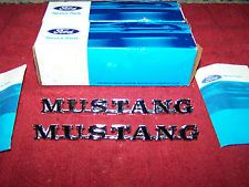 65-66 FORD MUSTANG FENDER EMBLEMS NOS FORD # C5ZZ-16098-B