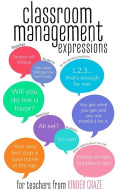 classroom management expressions for teachers