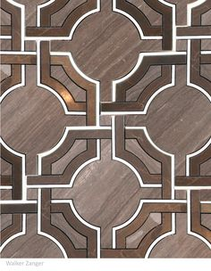 The Cabana Pattern in Mocha from Jet Set Collection. Walker Zagner.