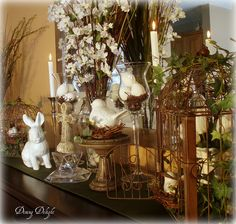 Dining Delight: Sideboard Decorated for Easter