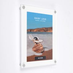 A wall mounting photo frame with a white back panel to create a white border around your photo or prints. Great for framing photos or posters in any location. Supplied with satin silver finish wall mounts to create a modern acrylic frame. Acrylic Panels, Acrylic Frames, Daisy Love, Print Your Photos, Clear Perspex, Photo Picture Frames, White Walls, Wall Mount, Satin