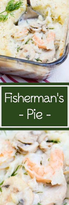 This recipe for Fisherman's Pie is similar to the well-known Shepherd's Pie. It layers white fish and shrimp with veggies and mashed potatoes instead of using ground beef. | theeverykitchen.com