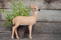 Needle Felted Whitetail Deer by Teresa Perleberg