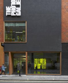 I like how they chose the layout of the title. Creative, certainly different!  Photographers Gallery / ODonnell + Tuomey Architects