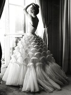 Christian Dior 1947; what girl hasn't dreamed of being a Mermaid for one day?