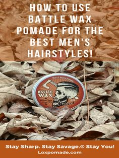 If you're looking for a tutorial on how to use wax based pomade for men's hairstyles, this is the video for you. Here we have Miz, from Lox Hair Wax Company, using a tin of Battle Wax pomade, an all-natural pomade made for men. Taking a small dab of pomade with his thumb, he works it down until it has melted into his hands. He then runs his hands through his hair to make sure he evenly distributes the pomade. With a peach wood hair comb, Miz then styles his hair with ease. Loxpomade.com
