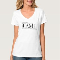 Affirm who you are with this unique I AM Affirmation tee. T-shirt affirmations include I am fearfully and wonderfully made, More than a conqueror, Free to be me, Loving who I am, Fearless, Unstoppable and more..... Give as a gift or keep it for yourself.