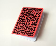 Write it down. Handmade notebook - Scrumptious scribbles red. $7,50, via Etsy.
