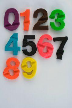 playdough numbers