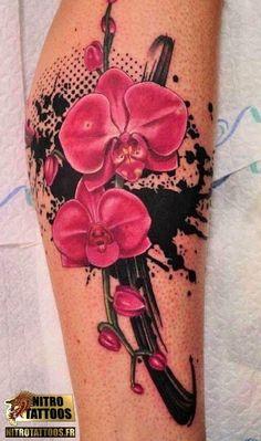 motif tatouage orchidée