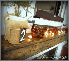 Down to Earth Style - Great DIY ideas for decorating!  Love her style!