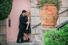 D'anna and Daniel's romantic and classic Versailles inspired engagement session at the John and Mable Ringling Museum of Art in Sarasota, FL. by Kristen Weaver