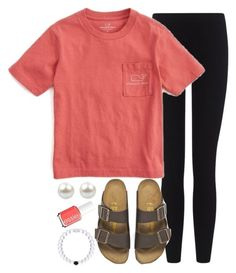 featuring James Perse, Vineyard Vines, Birkenstock and Essie Adrette Outfits, Lazy Day Outfits, Cute Comfy Outfits, Cute Outfits For School, College Outfits, Everyday Outfits, Outfits For Teens, Summer Outfits, Casual Sporty Outfits