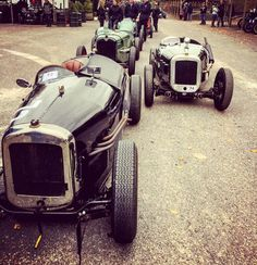 Austin 7s at VSCC Goodwood Sprint 2015 #austin #austin7 #austinseven #ulster #vscc #goodwood #goodwoodsprint #sprint Classic Sports Cars, Classic Cars, Sport Cars, Race Cars, Soap Box Cars, Austin Seven, Vintage Race Car, Motor Car, Cars And Motorcycles