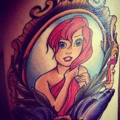 mermaid traditional tattoo | Ariel Tattoo Disney Little Mermaid