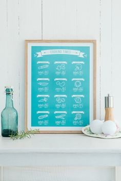 Hey, I found this really awesome Etsy listing at https://www.etsy.com/dk-en/listing/293194859/cooking-times-kitchen-print-limited