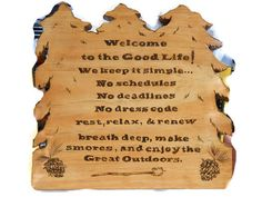 The Good Life 12x12 inch by MacsWoodSigns on Etsy