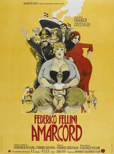 Amarcord Columbia, Rome, Romantic Times, Beautiful Posters, France, Illustrations, Paris, Film Posters, Warner Bros