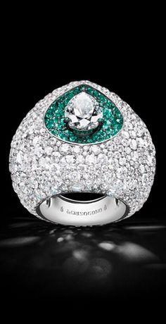 Diamonds and Emeralds De Grisogono luxury jewelry High Jewelry, Luxury Jewelry, Jewelry Rings, Jewelry Accessories, Jewelry Design, Women Jewelry, Fashion Jewelry, Unique Jewelry, Diamond Jewelry