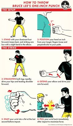 How to Throw Bruce Lee's Punch Self Defense Moves, Self Defense Martial Arts, Kung Fu Martial Arts, Martial Arts Workout, Martial Arts Training, Boxing Workout, Martial Arts Quotes, Bruce Lee Martial Arts, Martial Arts Techniques
