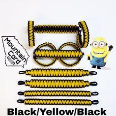 Paracord Jeep Grab Handles Full Set JK/JKU 2 or 4-door n Black/Yellow/Black