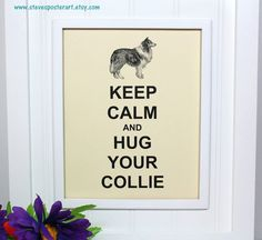 Collie Keep Calm Poster