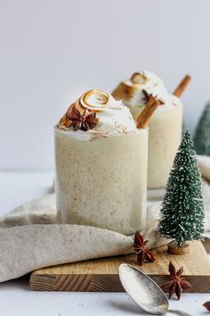 The Ultimate Dairy-Free Egg Nog - made with coconut milk and almond milk, this simple and delicious recipe is perfect for the holidays!