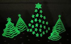 Glow In The Dark 3D Paper Christmas Tree