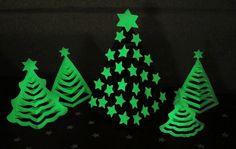 Glow In The Dark 3D Paper Christmas Tree