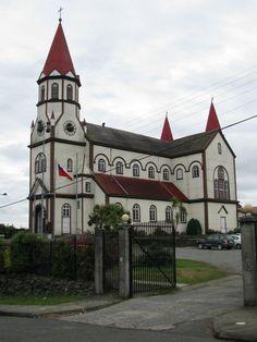 Iglesia Sagrado Corazon de Jesus Puerto Varas1916. Inspired on a church at the Black forest in Germany.