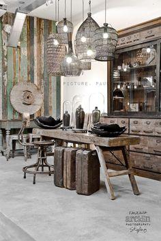Imágenes de decoración de comercios estilo vintage.