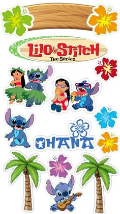 Disney Stitch, Lilo E Stitch Ohana, Lilo And Stitch Cake, Lilo And Stitch Quotes, Disney Princess Crafts, Disney Princess Birthday Party, Lilo Y Stitch Dibujo, Disney Cake Toppers, Diy Gift Box