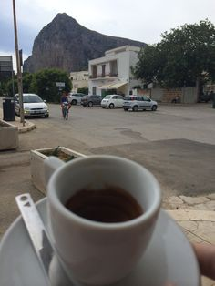 Beautiful San Vito Lo Capo in Sicily's Wild West coast. A deserved cup after a swim.