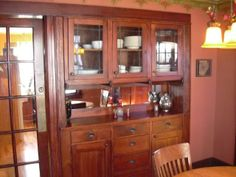 Dining Room: two sided sideboard, feeds through to kitchen