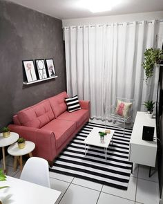 Rooms Home Decor, Home Living Room, Living Room Designs, Living Room Decor, Small Apartment Interior, Studio Apartment Decorating, Simple Apartment Decor, One Room Apartment, Aesthetic Room Decor