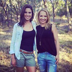 Amanda Jason with Australian actor Carla Bonner