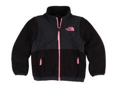 The North Face Kids Girls' Denali Jacket (Little Kids/Big Kids) Black/Utterly Pink - 6pm.com