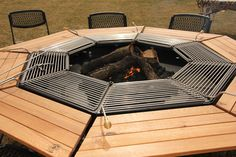 If you don't think that owning this table will crown you king of the neighbourhood, you better think again. The Jag Grill is an octagonal table with an integrated firepit