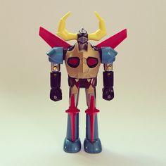Gaiking - Shogun Warrior Two in One by Mattel. Photo by tamiyakim